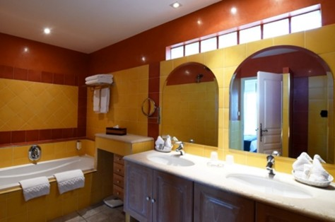 Master bath room with shower and bath tube separately